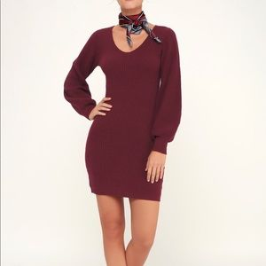 Lulu Maroon Knit Dress